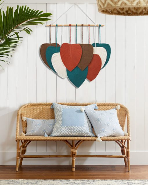 TDy Corner Macrame Feathers Macrame Leaves Wall Hanging (9)