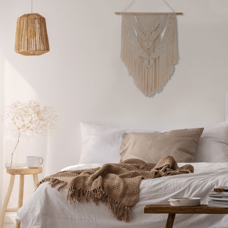 TDy Corners Decorating Living Room with Boho Style by Macrame Wall Hanging (24)