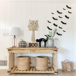 TDy Corners Halloween decorating ideas with macrame owl wall hanging (6)