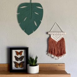 TDy Corners Macrame Feather Monstera Leaf Wall Hanging (16)