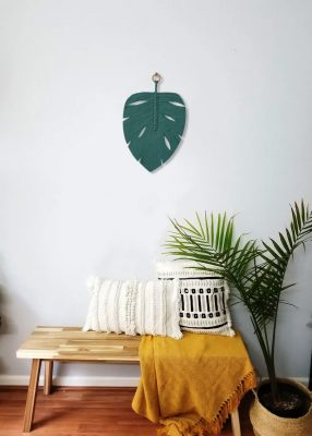 TDy Corners Macrame Feather Monstera Leaf Wall Hanging (8)