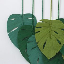 TDy Corners Set Of 9 Macrame Monstera Leaves Wall Hanging For Gift And Decoration In Living Room, Bedroom, Nursery With Boho Style (100% Cotton, 9 Leaves, Wooden Stick Included) (4)